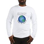Christmas Peas On Earth Long Sleeve T-Shirt