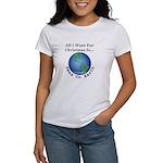 Christmas Peas On Earth Women's Classic T-Shirt