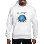 Christmas Peas On Earth Hooded Sweatshirt