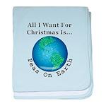 Christmas Peas On Earth baby blanket