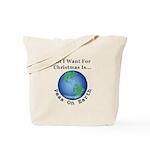 Christmas Peas On Earth Tote Bag