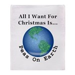 Christmas Peas On Earth Throw Blanket