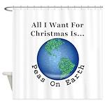Christmas Peas On Earth Shower Curtain