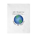 Christmas Peas On Earth Twin Duvet Cover