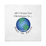Christmas Peas On Earth Queen Duvet