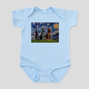 Starry / 2 Labradors (Blk+C) Infant Bodysuit