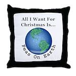 Christmas Peas On Earth Throw Pillow