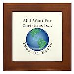 Christmas Peas On Earth Framed Tile