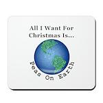 Christmas Peas On Earth Mousepad