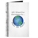 Christmas Peas On Earth Journal