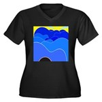 Blue Ridge Mtns. Women's Plus Size V-Neck Dark T-S