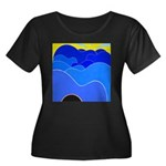 Blue Ridge Mtns. Women's Plus Size Scoop Neck Dark