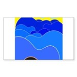 Blue Ridge Mtns. Rectangle Sticker 10 pk)