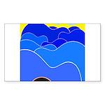 Blue Ridge Mtns. Rectangle Sticker 10 pk)