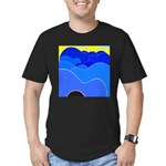 Blue Ridge Mtns. Men's Fitted T-Shirt (dark)
