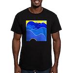 Blue Ridge Mtns. Men's Fitted T-Shirt (dark)