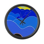 Blue Ridge Mtns. Large Wall Clock