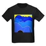 Blue Ridge Mtns. Kids Dark T-Shirt