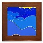 Blue Ridge Mtns. Framed Tile