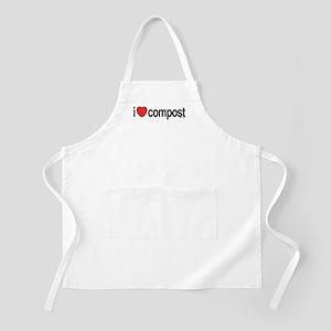 I Love Compost BBQ Apron