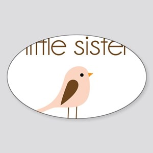 little sister t-shirt birdie modern Oval Sticker