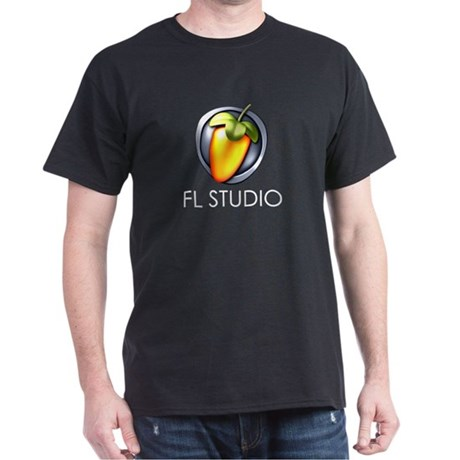 """Black T-Shirt with 7"""" shield and title"""