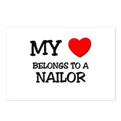 My Heart Belongs To A NAILOR Postcards (Package of