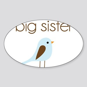 mod big sister t-shirt birdie Oval Sticker