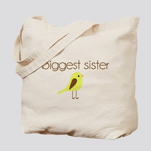 mod biggest sister t-shirt birdie Tote Bag