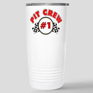 #1 Pit Crew Stainless Steel Travel Mug