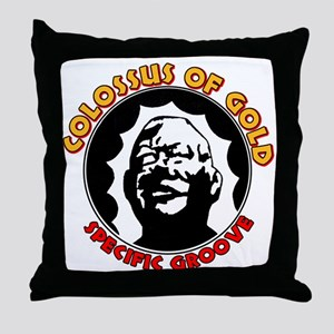 Colossus of Gold Throw Pillow