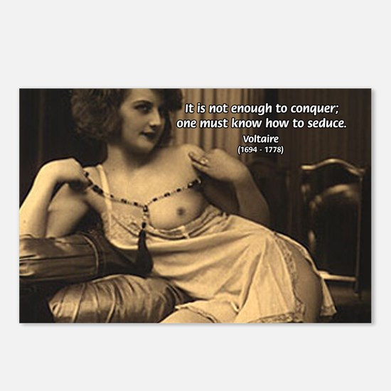Voltaire: Seduction Victory Postcards (Package of