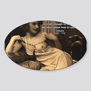 Voltaire: Seduction Victory Oval Sticker