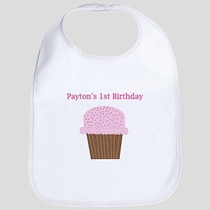 Payton's First Birthday Cupca Bib