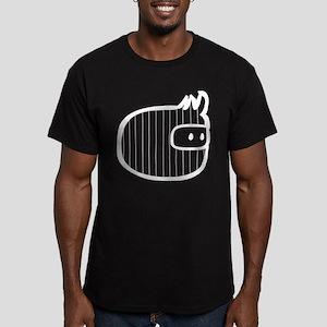 Corduroy Ninja Men's Fitted T-Shirt (dark)