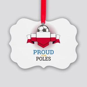 Football Poles Poland Soccer Team Picture Ornament