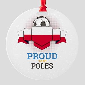 Football Poles Poland Soccer Team S Round Ornament