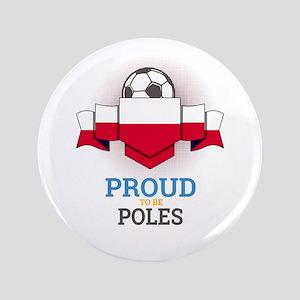 """Football Poles Poland Soccer Team Spor 3.5"""" Button"""