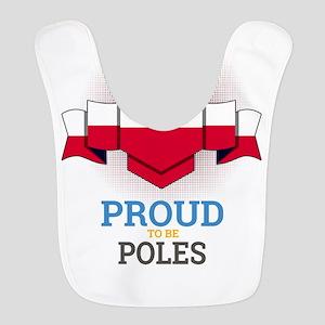 Football Poles Poland Soccer Te Polyester Baby Bib