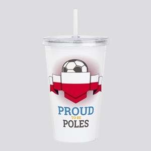 Football Poles Poland Acrylic Double-wall Tumbler