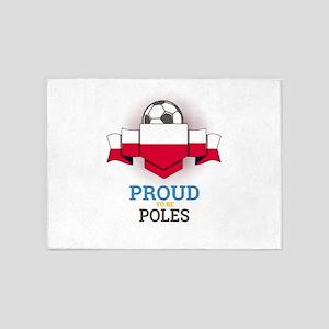 Football Poles Poland Soccer Team S 5'x7'Area Rug