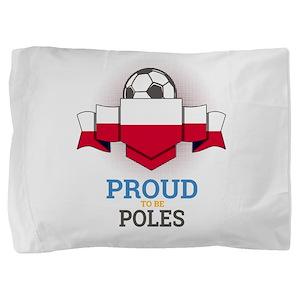 Football Poles Poland Soccer Team Spor Pillow Sham