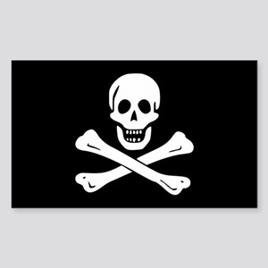 Edward England Jolly Roger Rectangle Sticker