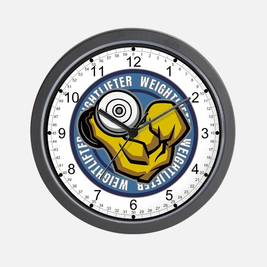 Weightlifter Flex Logo Wall Clock