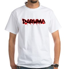 3 Daruma White T (Black & Red Design)