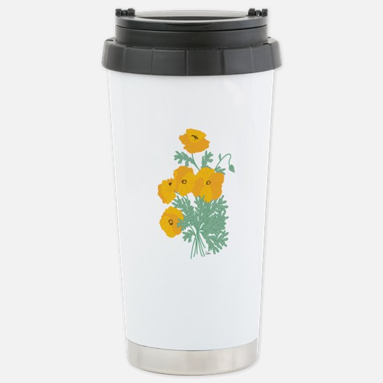 California Poppies Stainless Steel Travel Mug