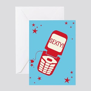 Sexty Cell Phone Greeting Card