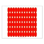Faux Red Gem Small Poster