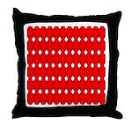 Faux Red Gem Throw Pillow