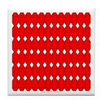 Faux Red Gem Tile Coaster